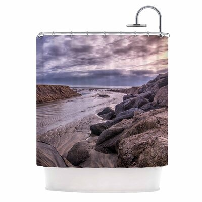 Clouds Over Carlsbad Beach Coastal Shower Curtain