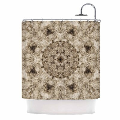 Sandy Beach Mandala Shower Curtain