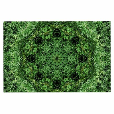 Green Forest Mandala Doormat