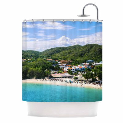 Forest on the Beach Photography Shower Curtain