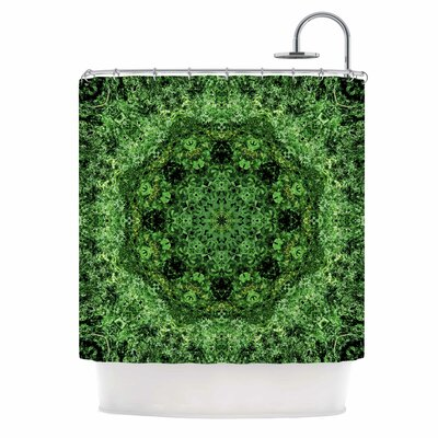 Green Forest Mandala Shower Curtain
