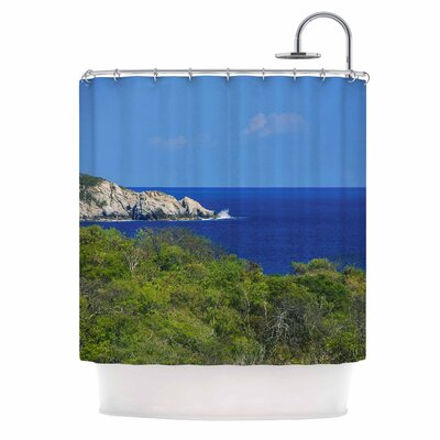 Forest to the Ocean Photography Shower Curtain