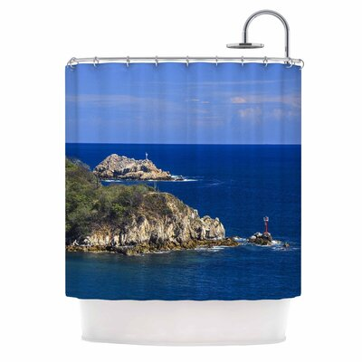 Stone Ocean Walls Photography Shower Curtain