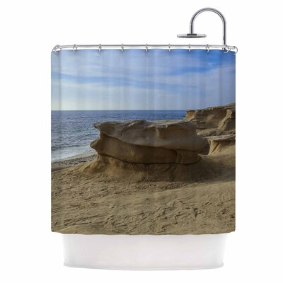 Rocks on the Beach Shower Curtain
