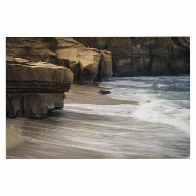 La Jolla Cliffside Sandstone Photography Decorative Doormat