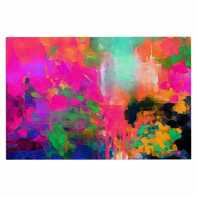 Montesilvano-Abstract Rainbow Painting Decorative Doormat