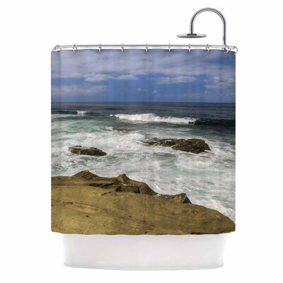Exposed Above Water Sandstone Photography Shower Curtain