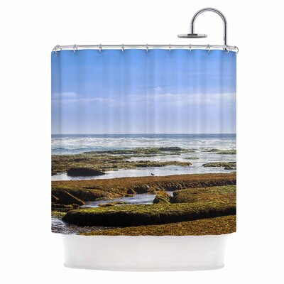 Low Tide Reef Photography Shower Curtain