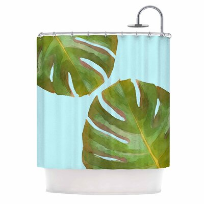 Tropico Shower Curtain Color: Aqua/Green