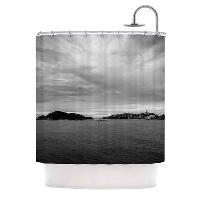 Deep Cloudy Ocean Photography Shower Curtain