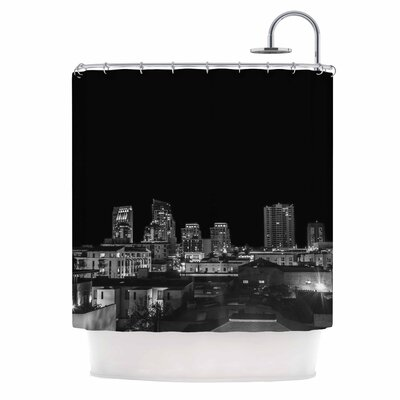 Cityscape Nights Photography Shower Curtain