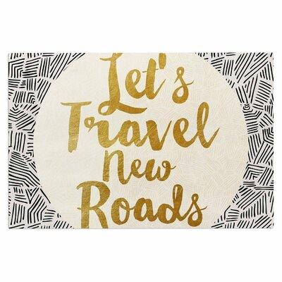 Lets Travel New Roads Doormat