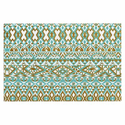 Mint & Gold Tribals Doormat