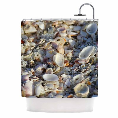 Seashells on the Beach Nature Shower Curtain