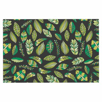 Tropical Botanicals Nature Decorative Doormat Color: Green/Black