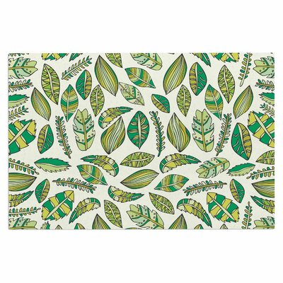 Tropical Botanicals Nature Decorative Doormat Color: Green/White
