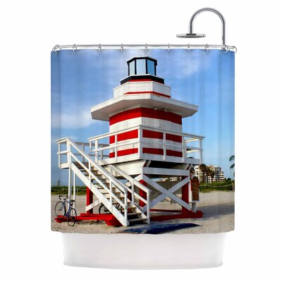 Lighthouse Lifeguard Stand Photography Shower Curtain