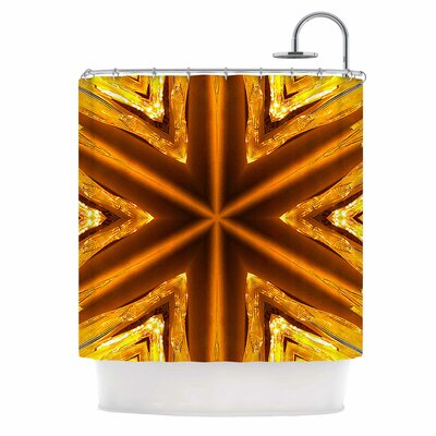 Gold Star Icicles Shower Curtain