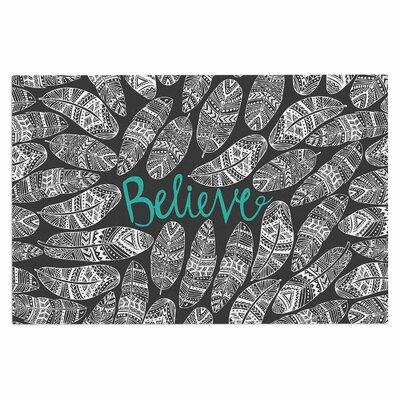 Believe in Yourself Dark Decorative Doormat Color: Purple