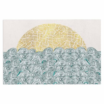 Sunny Tribal Seas II Ocean Decorative Doormat