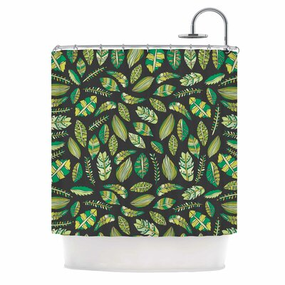 Tropical Botanicals Nature Shower Curtain Color: Black