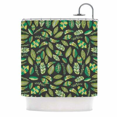 Tropical Botanicals Nature Shower Curtain Color: Black