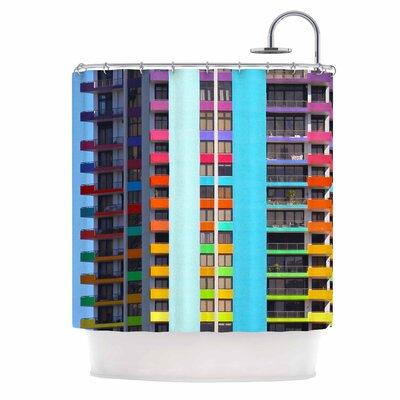 The Rainbow Building Shower Curtain