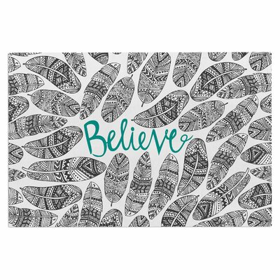 Believe in Yourself Dark Decorative Doormat Color: Dark Gray