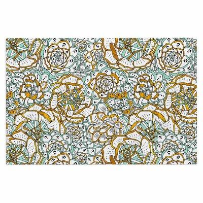 Succulents Paradise Vintage Illustration Decorative Doormat