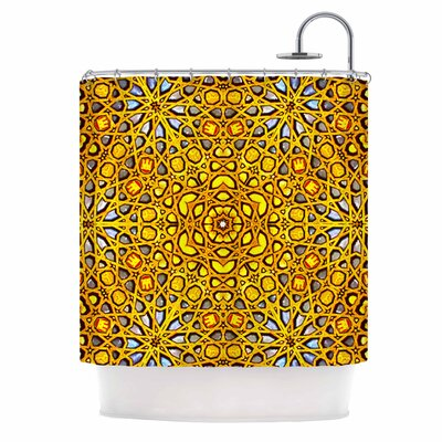 Golden Kaleidoscope Shower Curtain