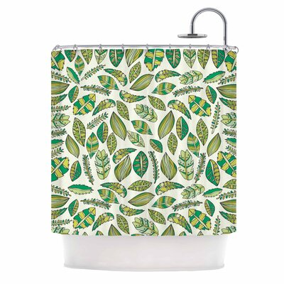 Tropical Botanicals Nature Shower Curtain Color: White