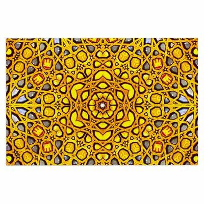 Golden Kaleidoscope Doormat