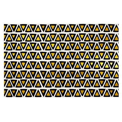 Aztec Triangles Gold Doormat