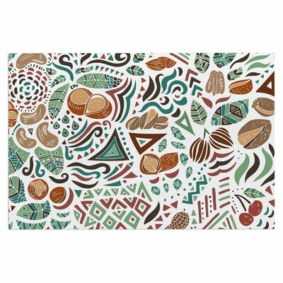 Nuts for Love Nature Illustration Decorative Doormat
