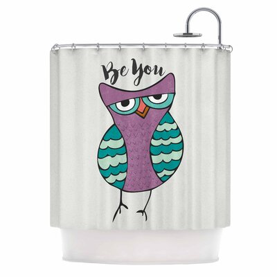 Be You Owl Illustration Shower Curtain
