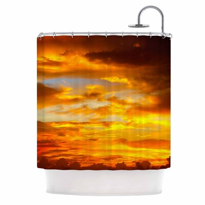 Painted Sunset Photography Shower Curtain