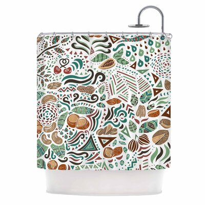 Nuts for Love Nature Illustration Shower Curtain