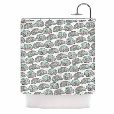 Retro Sea Shells Nautical Shower Curtain