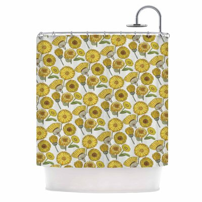 Calendula Flowers Shower Curtain