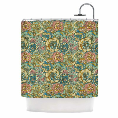 Blooming Succulents Shower Curtain