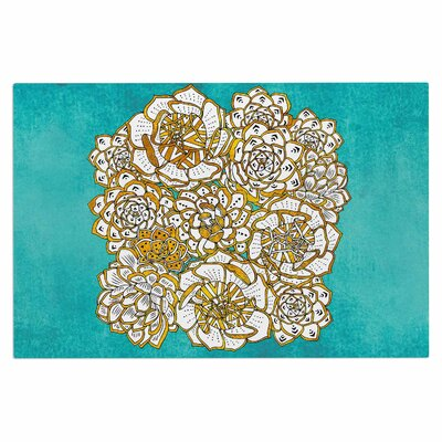 Bohemian Succulents II Doormat Color: Teal/Gold