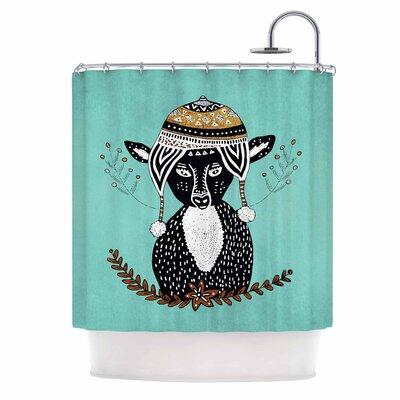 Hipster Deer Illustration Shower Curtain