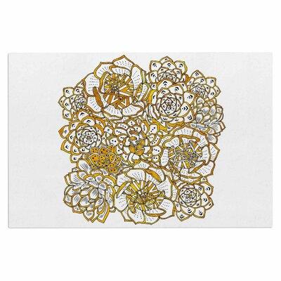 Bohemian Succulents II Doormat Color: Gold/White