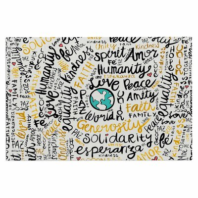 Positive Messages Gold Doormat