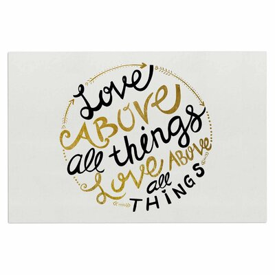 Love Above All Things Vector Decorative Typography Doormat