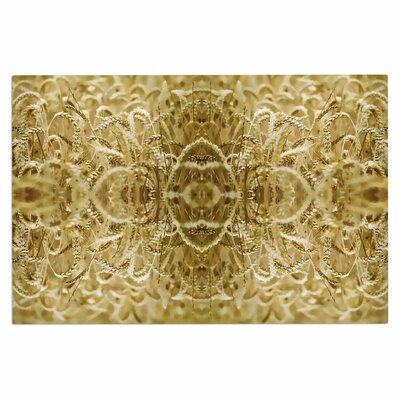 Cornfield Pattern,Ocker Gold Doormat