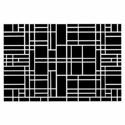 Map Outline Decorative Doormat Color: Black