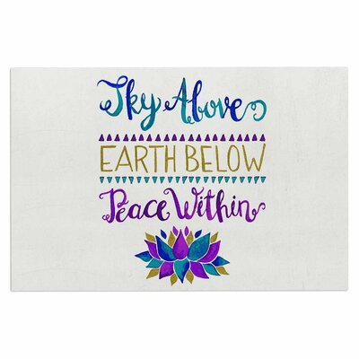Sky Above Peace Within Doormat