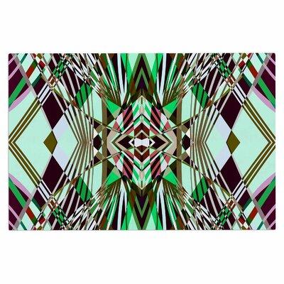 Sweeping Line Pattern I-E4B Diamond Decorative Doormat Color: Green