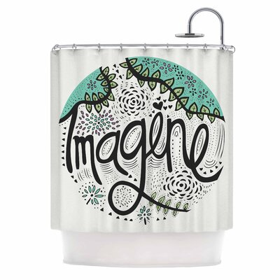 Imagine Nature Typography Shower Curtain